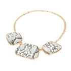 Fashion Three-Snakeskin-Handbag Pendants Necklace
