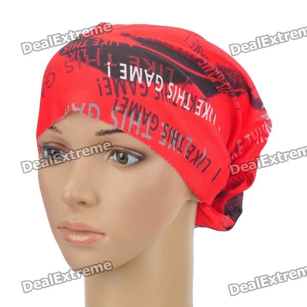 Multifunction Outdoor Sports Bicycle Cycling Seamless Head Scarf - Red + Black outdoor sports medium size carabiner red silver