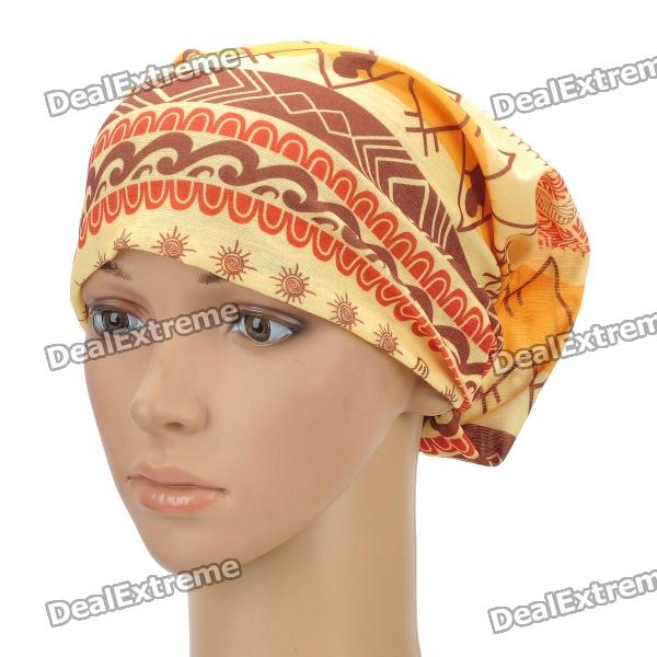Multifunction Outdoor Sports Bicycle Cycling Seamless Head Scarf - Red + Yellow multi functions kerchief head scarf seamless hat for ourdoors sports cycling tennies cn post