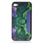 3D Avengers Green Giant Patter Protective Plastic Back Case for iPhone 4 / 4S