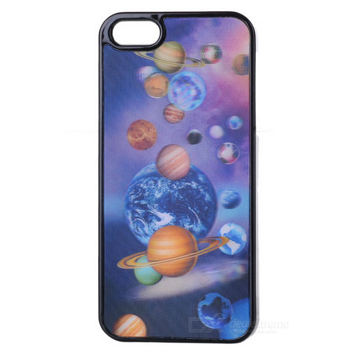 3D Planets Pattern Protective Plastic Back Case for Iphone 4 / 4S dream capture bell pattern protective plastic back case for iphone 6 4 7 black purple