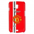 Manchester United Logo Style Protective Plastic Case for Samsung i9250 - Red + White