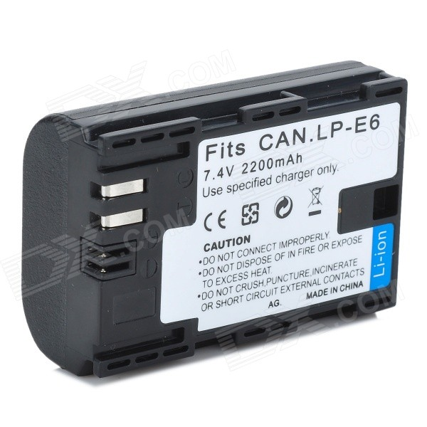 LP-E6 2200mAh Battery Half Coded Version for Canon 6D 5D Mark III 5D Mark II 7D 60D Camera canon eos 7d mark ii body