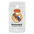 Real Madrid Pattern Protective Plastic Case for Samsung i9250 - White