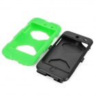 Robot Style Protective Plastic & Silicone Back Case for Ipod Touch 4 - Green