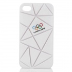 Irregular Gap Coin Stand Pattern Protective Plastic Back Case w/ London 2012 Olympics Logo - White