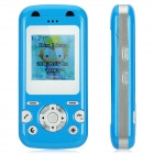 "Q9 GSM Kid's Cell Phone w/ 1.4"" LCD, Dual-Band, Single SIM and GPS - Blue"