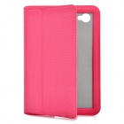 Ultra-Thin Protective PU Leather Case for Samsung P6800 / P6810 - Deep Pink