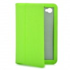 Ultra-Thin Protective PU Leather Case for Samsung P6800 / P6810 - Green