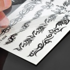 Perfumed Temporary Tattoo Sticker - Black Butterfly / Spider / Scorpion / Rose