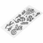 Perfumed Temporary Tattoo Sticker - Black Cool Dragon