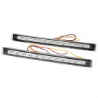 2W 120LM 6000K White 24-SMD LED Car Daytime Running Light (12~14.5V / Pair)