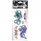 Cool Perfumed Temporary Tattoo Sticker - Purple Dragon & Green Dragon