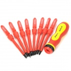 8-in-1 Multi-Function Insulation Screwdriver Set - Red