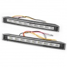 Dual Color 2W 120LM 18-SMD LED White Light + Yellow Flashing Turn Light Daytime Running Lamp (Pair)