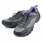 Outdoor Sports Climbing Hiking Shoes for Women - Grey + Black + Purple (Size-35/Pair)
