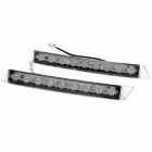 2W 120LM 6000K White 18-SMD LED Car Daytime Running Light (12~14.5V / Pair)