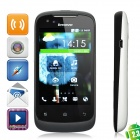 "Lenovo LePhone A500 Android 2.3 WCDMA Bar Phone w/ 3.5"" Capacitive, Dual-SIM, GPS and Wi-Fi - White"