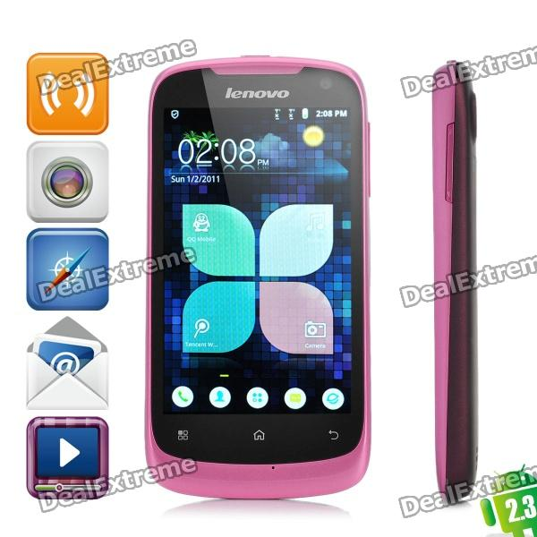Lenovo A520 Android 2.3 WCDMA Bar Phone w/4.0 Capacitive, GPS, Wi-Fi and Dual-SIM - Pink + Deep Red lenovo a750 android 2 3 wcdma cellphone w 4 0 capacitive gps wi fi and dual sim black