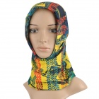 Multifunction Outdoor Sports Bicycle Cycling Seamless Head Scarf - Blue + Yellow