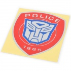 Transformer Pattern Car Decoration Sticker - Red + Blue + Grey (10.2 x 12cm)