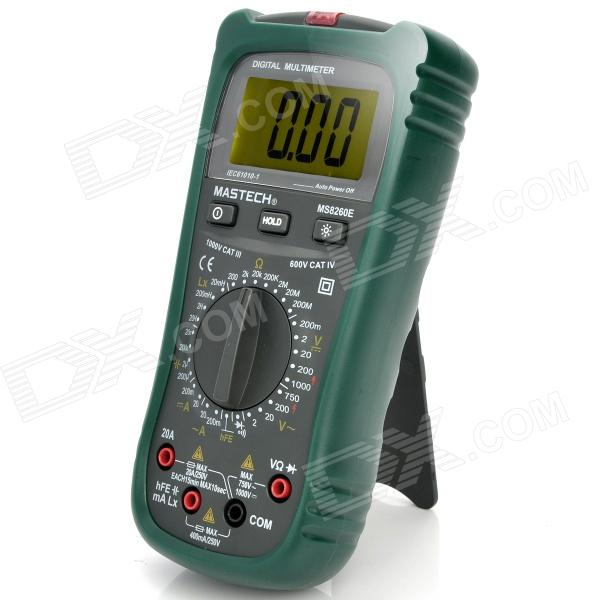 2.4 LCD Digital Capacity + Resistance + Inductance Testing Multimeter (1 x 6F22) pro skit mt 1210 2 0 lcd digital multimeter blue deep grey 1 x 9v battery