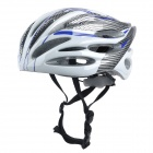 Outdoor Bike Bicycle Riding Helmet - Black + Blue + Silver