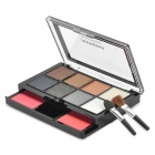 06# Cosmetic Makeup 8-Color Eye Shadow + 2-Color Blush Rouge Kit w/ Brush