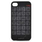 London 2012 Olympic Sports Logos Pattern Protective Plastic Back Case for iPhone 4 / 4S - Black