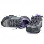 Outdoor Sports Climbing Hiking Shoes for Women - Grey + Black + Purple (Size-39/Pair)