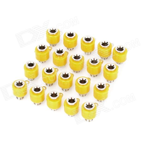 Altavoz Amplificador Banana Jack enchufe - Amarillo (20-Piece Pack)