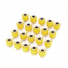 Speaker Amplifier Banana Jack Socket Connectors - Yellow (20-Piece Pack)
