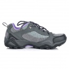 Outdoor Sports Climbing Hiking Shoes for Women - Grey + Black + Purple (Size-38/Pair)