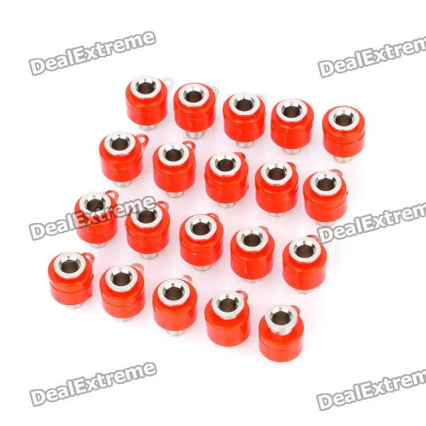 Speaker Amplifier Banana Jack Socket Connectors - Red (20-Piece Pack) 4 pin speaker amplifier cable plug connectors blue black 5 piece pack