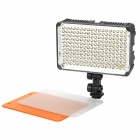 5500~3200K 198-LED Video Lamp w/ Filter for Camera / Camcorder - Black (DC 5.5~9.5V)