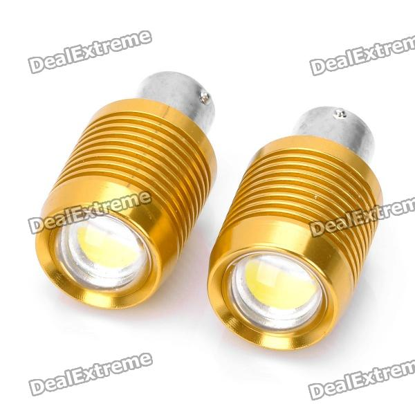 1156 9W 800LM 8000K Car Brake White Light Bulb (12~14.5V / Pair) singfire 800lm white light led emitter