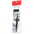 Mini 2-in-1 High-Sensitive Stylus & Ball Pen for Iphone / Ipad / Ipod - Black