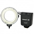 6W 60-LED White Light Ring-Shaped Flash Lamp for Nikon - Black (4 x AA / DC 3.6~6.7V)