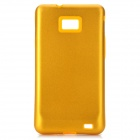 Protective Aluminum + Silicone Back Case Cover for Samsung i9100 Galaxy S2 - Golden