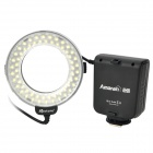 6W 60-LED White Light Ring-Shaped Flash Lamp for Canon - Black (4 x AA / DC 3.6~6.7V)