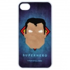 Stylish Superman Carton Pattern Back Case for iPhone 4 / 4S - Blue