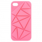 Irregular Gap Coin Stand Protective Plastic Case w/ 2012 Olympics Logo for iPhone 4 / 4S - Pink
