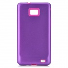 Protective Aluminum + Silicone Back Case Cover for Samsung i9100 Galaxy S2 - Purple