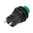 Self-Locked 2-Pin Push Button Switches - Green + Black (20-Piece Pack)
