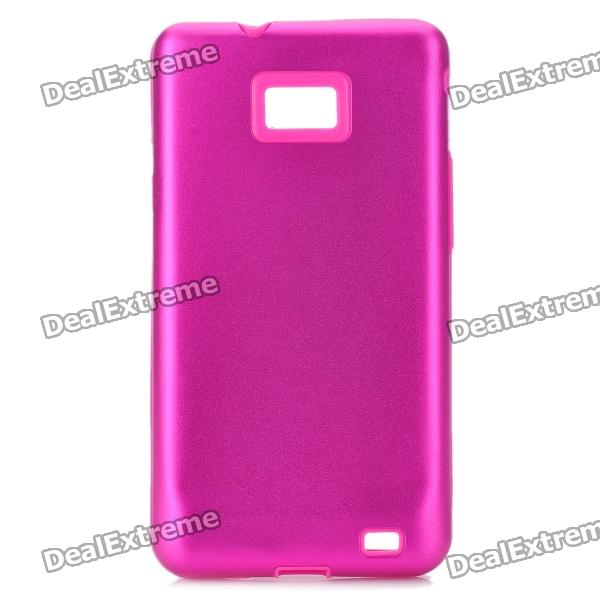 Protective Aluminum + Silicone Back Case Cover for Samsung i9100 Galaxy S2 - Rose Red от DX.com INT