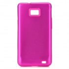 Protective Aluminum + Silicone Back Case Cover for Samsung i9100 Galaxy S2 - Rose Red