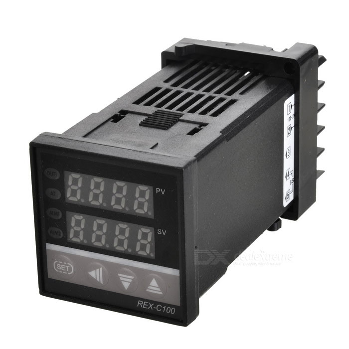 C100 SSR Digital Temperature Controller Thermocouple - Black