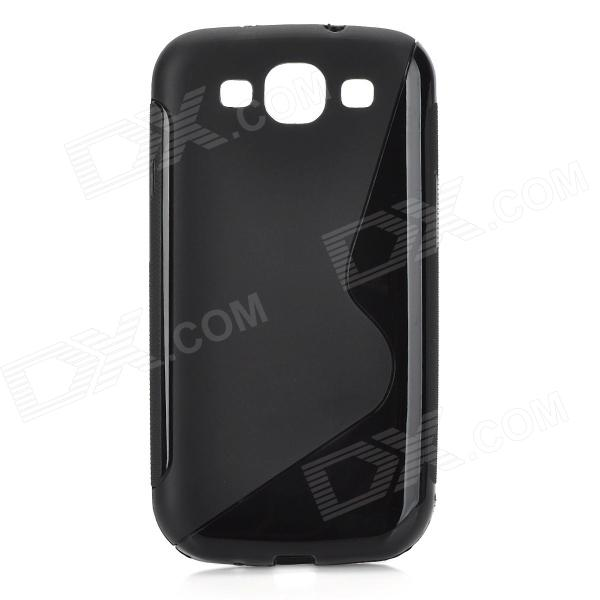 Protective Soft Silicone Back Case for Samsung i9300 S3 - Black wsb s3 samsung s3 i9300 sam896 for samsung s3 i9300