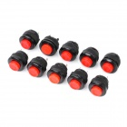 Electrical Power Control On/Off 2-Pin Push Button Switches (10-Piece Pack)