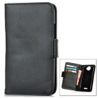 Protective Artificial Leather Flip-Open Case for HTC ONE X / S720E - Black